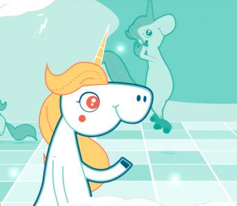 Character Animation: Banco Azul – Pinino version Unicornio